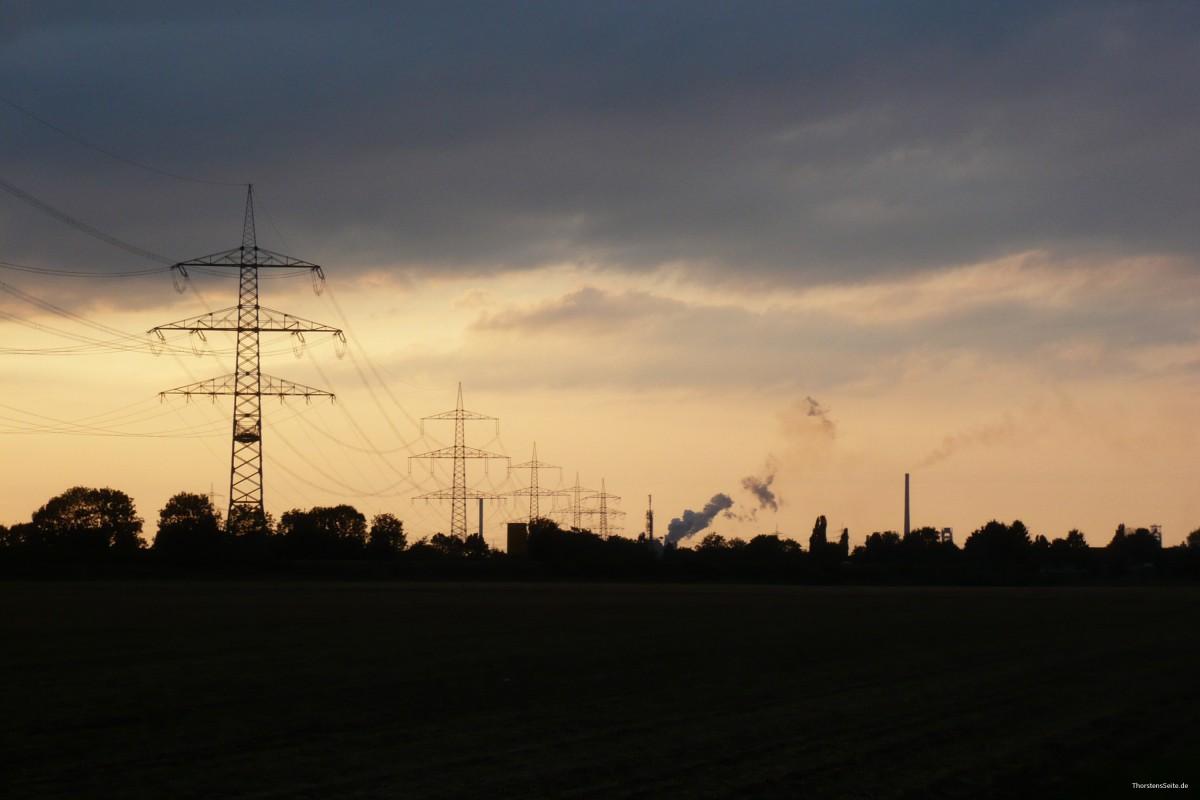Blick nach Duisburg