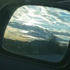 Himmelbild im Rückspiegel
